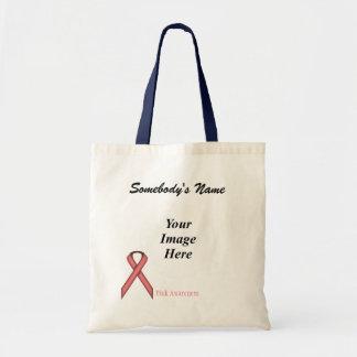 Pink Standard Ribbon Template Tote Bag