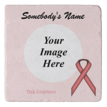 Pink Standard Ribbon Template Trivet