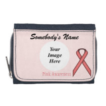 Pink Standard Ribbon Template Wallet