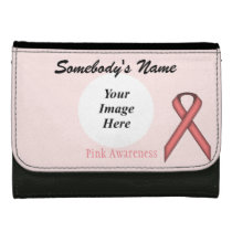 Pink Standard Ribbon Template Wallet For Women