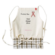 Pink Standard Ribbon Template Zazzle HEART Apron