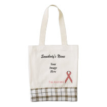Pink Standard Ribbon Template Zazzle HEART Tote Bag