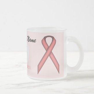 Pink Standard Ribbon Tmpl by Kenneth Yoncich Frosted Glass Coffee Mug