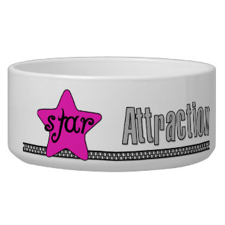 Pink Star Attraction Pet Dish