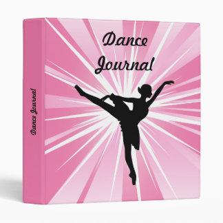 Pink Star Ballerina 3 Ring Binder
