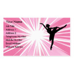Pink Star Ballerina Double-Sided Standard Business Cards (Pack Of 100)