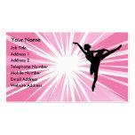 Pink Star Ballerina Business Card Template