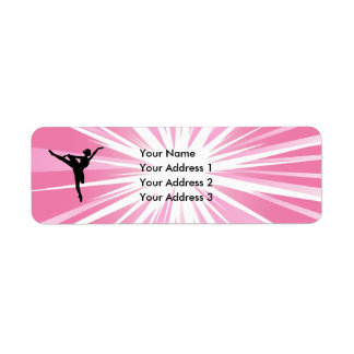 Pink Star Ballerina Return Address Label