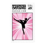 Pink Star Ballerina Postage Stamps