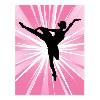 Pink Star Ballerina Postcard