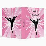Pink Star Ballerina Vinyl Binders