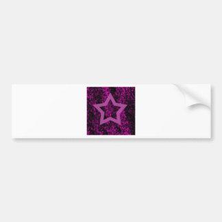 Pink Star Bumper Sticker
