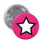 Pink Star Button
