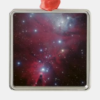 Pink Star Cluster Nebula Metal Ornament