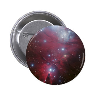 Pink Star Cluster Nebula Pinback Button