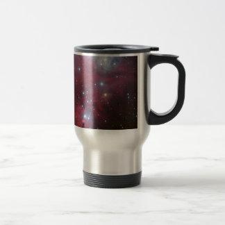 Pink Star Cluster Nebula Travel Mug