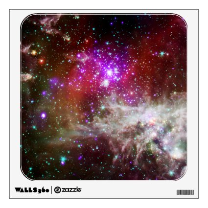 Pink Star Cluster Pacman Nebula Room Decal