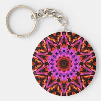 Pink Star Flower - Keychain