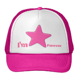 pink star forever mesh hats