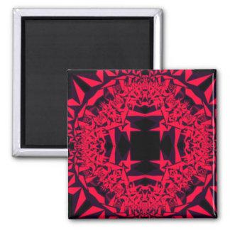 pink star fractal magnet