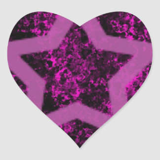 Pink Star Heart Sticker