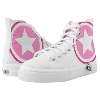 Pink Star High-Top Sneakers