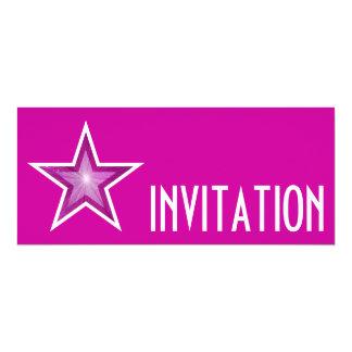 Pink Star 'INVITATION' pink long Card