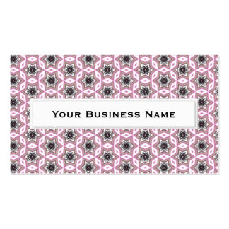 Pink Star kaleidoscope pattern Business Cards