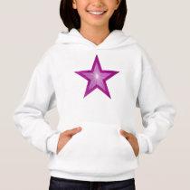 Pink Star kids hoodie