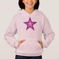 Pink Star kids hoodie pink