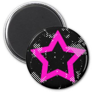 pink-star refrigerator magnet