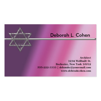 Pink Star of David Business Cards Pack Of Standard Business Cards