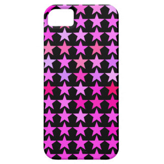 Pink Star Pattern Black iPhone 5 Cases