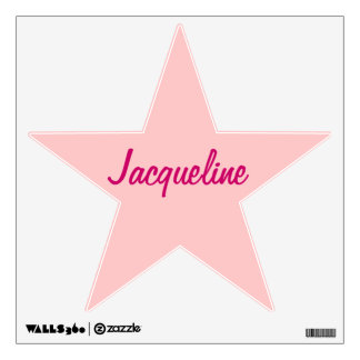 Pink Star Personalized Wall Decal