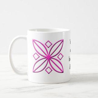 Pink Star Petal Graphic Coffee Mug