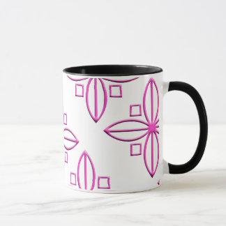 Pink Star Petal Graphic Mug