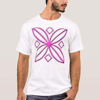 Pink Star Petal Graphic T-Shirt