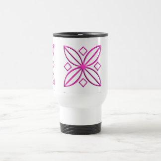 Pink Star Petal Graphic Travel Mug