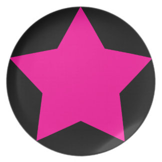 PINK STAR PLATE