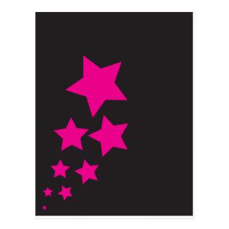Pink Star Postcard