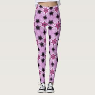 Pink Star Spatter Geometric Leggings