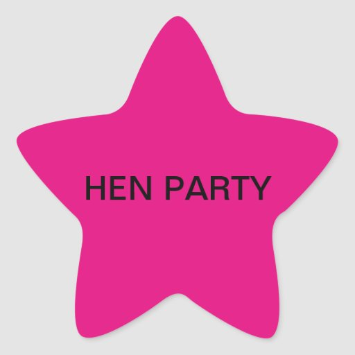 Pink Star Stickers Hen Party