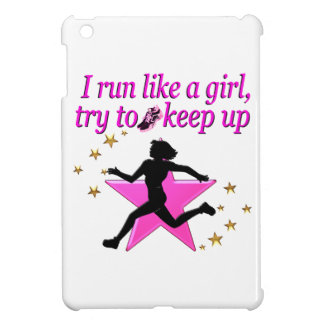 PINK STAR TRACK AND FIELD CHAMPION iPad MINI CASES