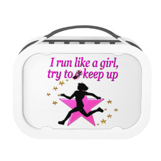 PINK STAR TRACK AND FIELD CHAMPION LUNCH BOX