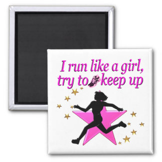 PINK STAR TRACK AND FIELD CHAMPION MAGNET
