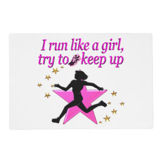 PINK STAR TRACK AND FIELD CHAMPION PLACEMAT