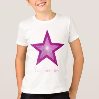 Pink Star 'two tone' 'Your Text' kids t -shirt T-Shirt