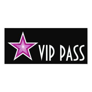 Pink Star 'VIP PASS' invitation black long
