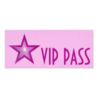 Pink Star 'VIP PASS' invitation pink long
