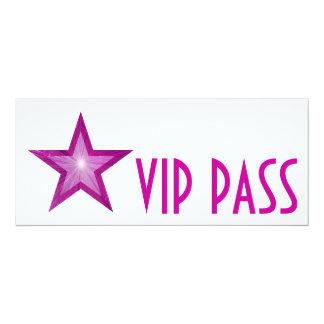 Pink Star 'VIP PASS' invitation white long